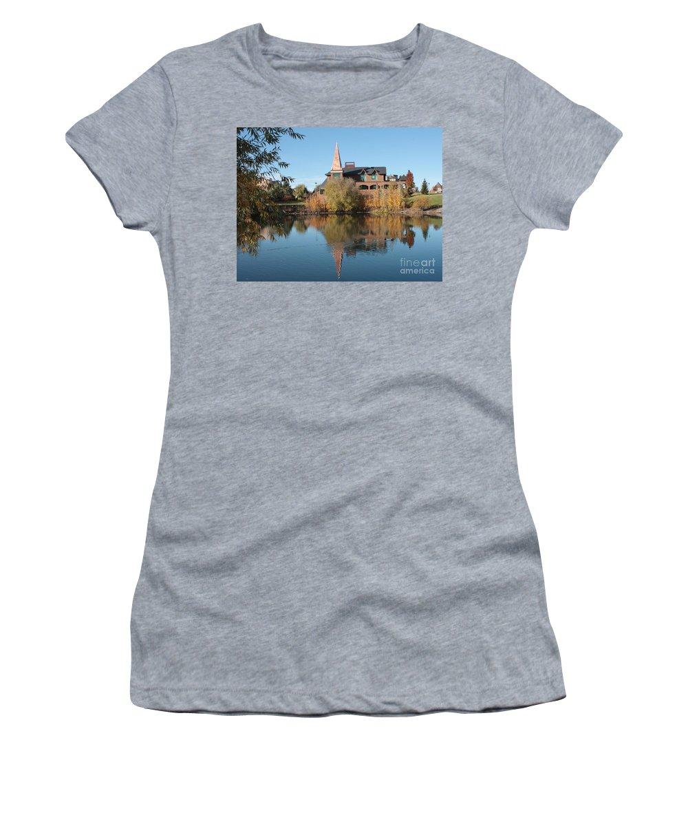 Washington Women's T-Shirt featuring the photograph Gonzaga Art Building by Carol Groenen