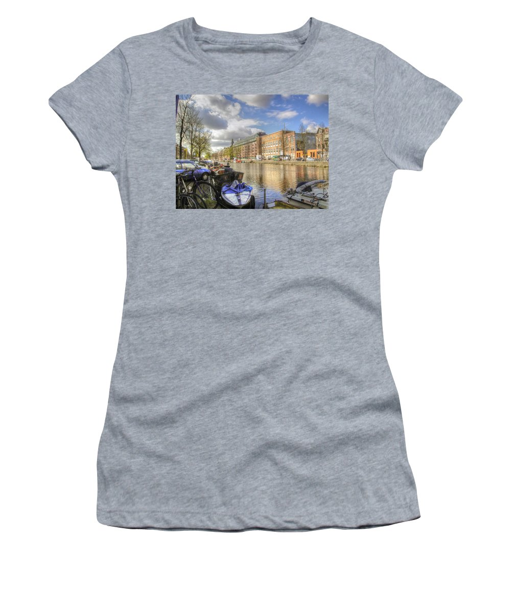 Amsterdam Women's T-Shirt (Athletic Fit) featuring the photograph Good Morning Amsterdam by Dolly Sanchez