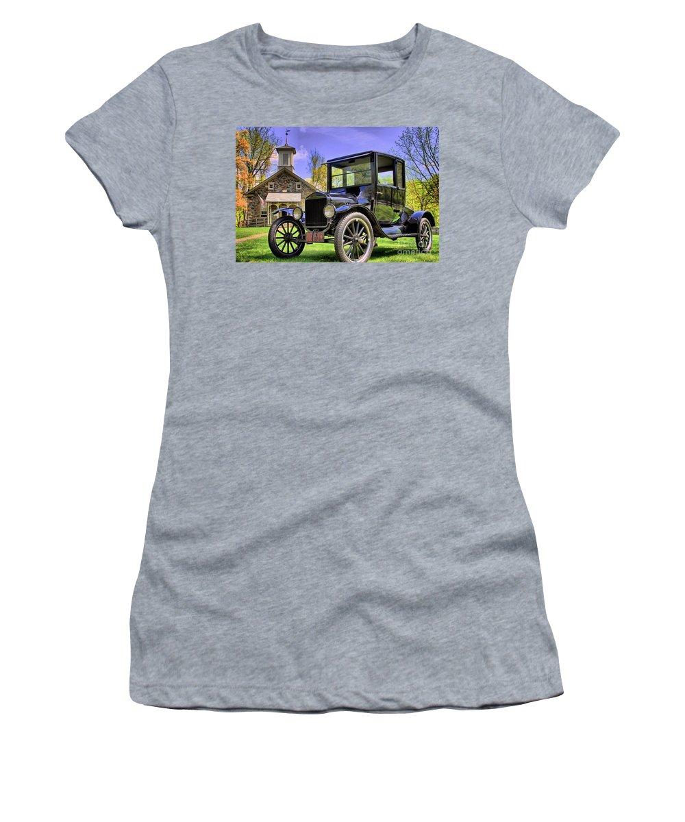 School Women's T-Shirt featuring the photograph Good Old Days by DJ Florek