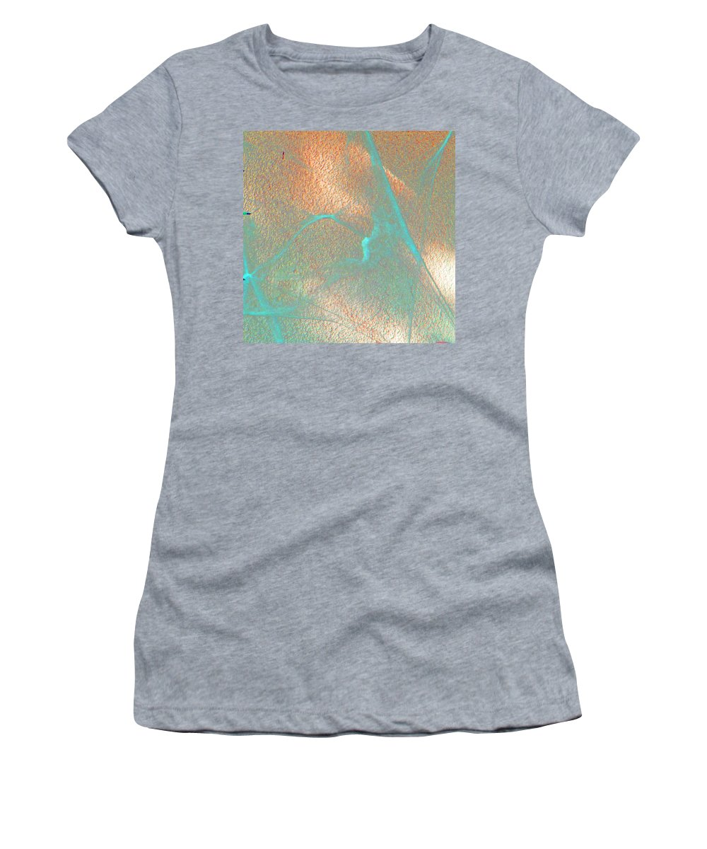 Abstract Women's T-Shirt (Athletic Fit) featuring the digital art Gossamer Abstract by Lenore Senior