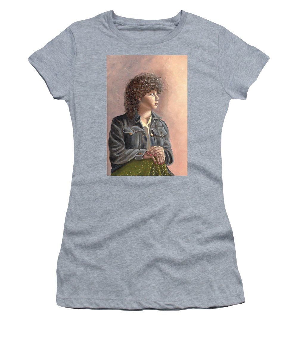 Women's T-Shirt featuring the painting Grace by Toni Berry