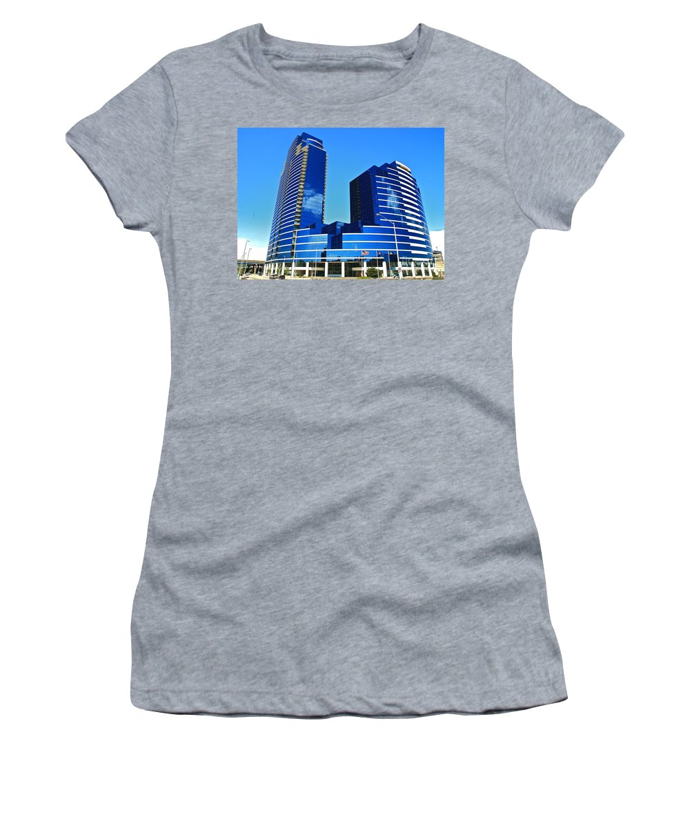 Tags:  West Michigan Photographs Women's T-Shirt (Athletic Fit) featuring the photograph Grand Rapids Mi- 9 Dressed In Blue by Robert Pearson
