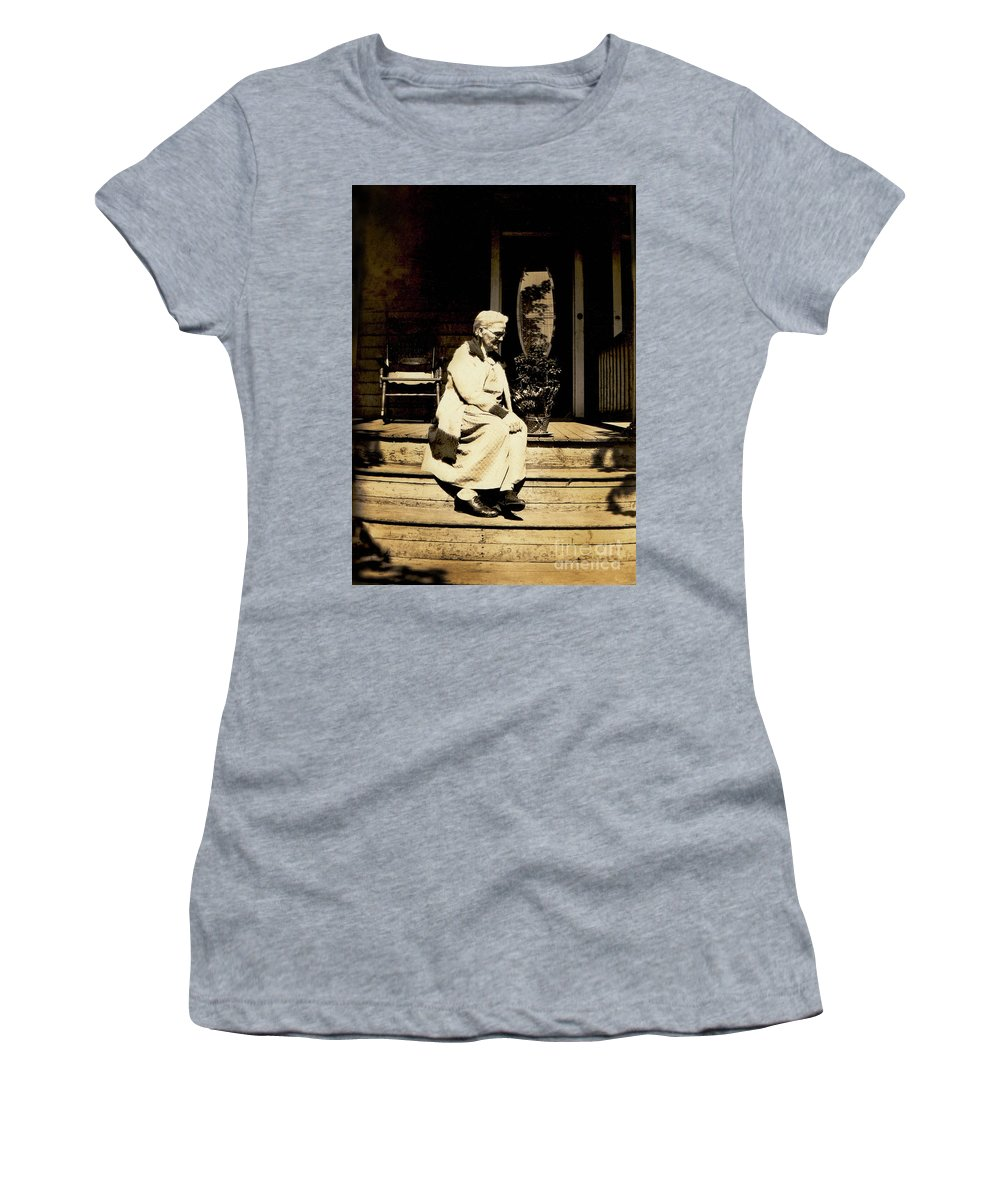 Grandma Women's T-Shirt (Athletic Fit) featuring the photograph Grandma Jennie by Paul W Faust - Impressions of Light