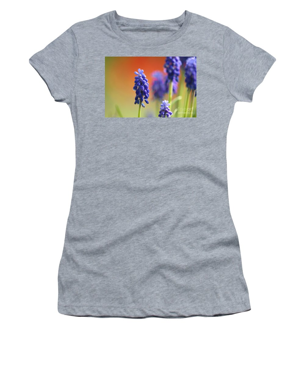 Grape Hyacinth Women's T-Shirt (Athletic Fit) featuring the photograph Grape Hyacinth by Sharon Talson