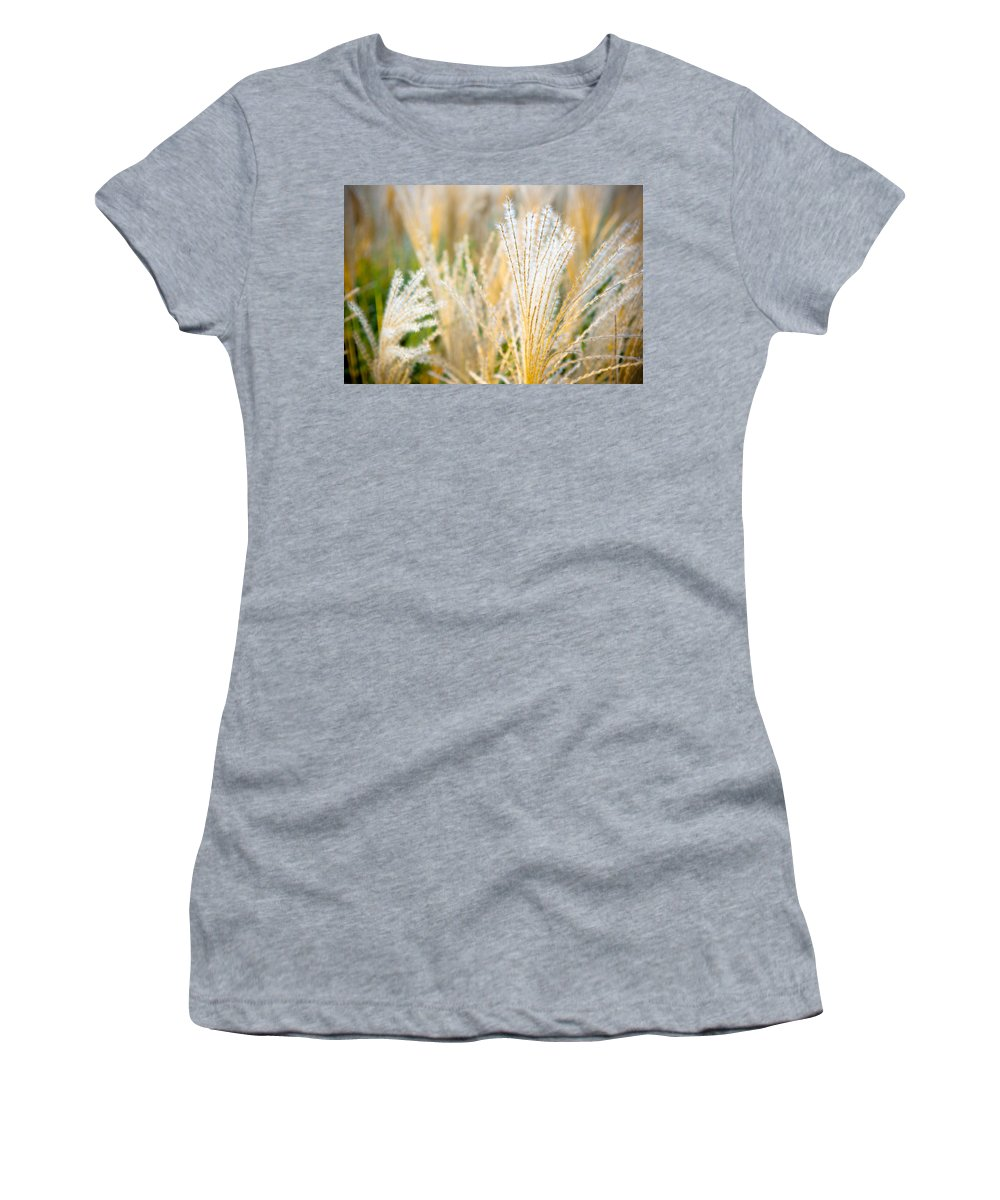 Green Women's T-Shirt (Athletic Fit) featuring the photograph Grass by Sebastian Musial