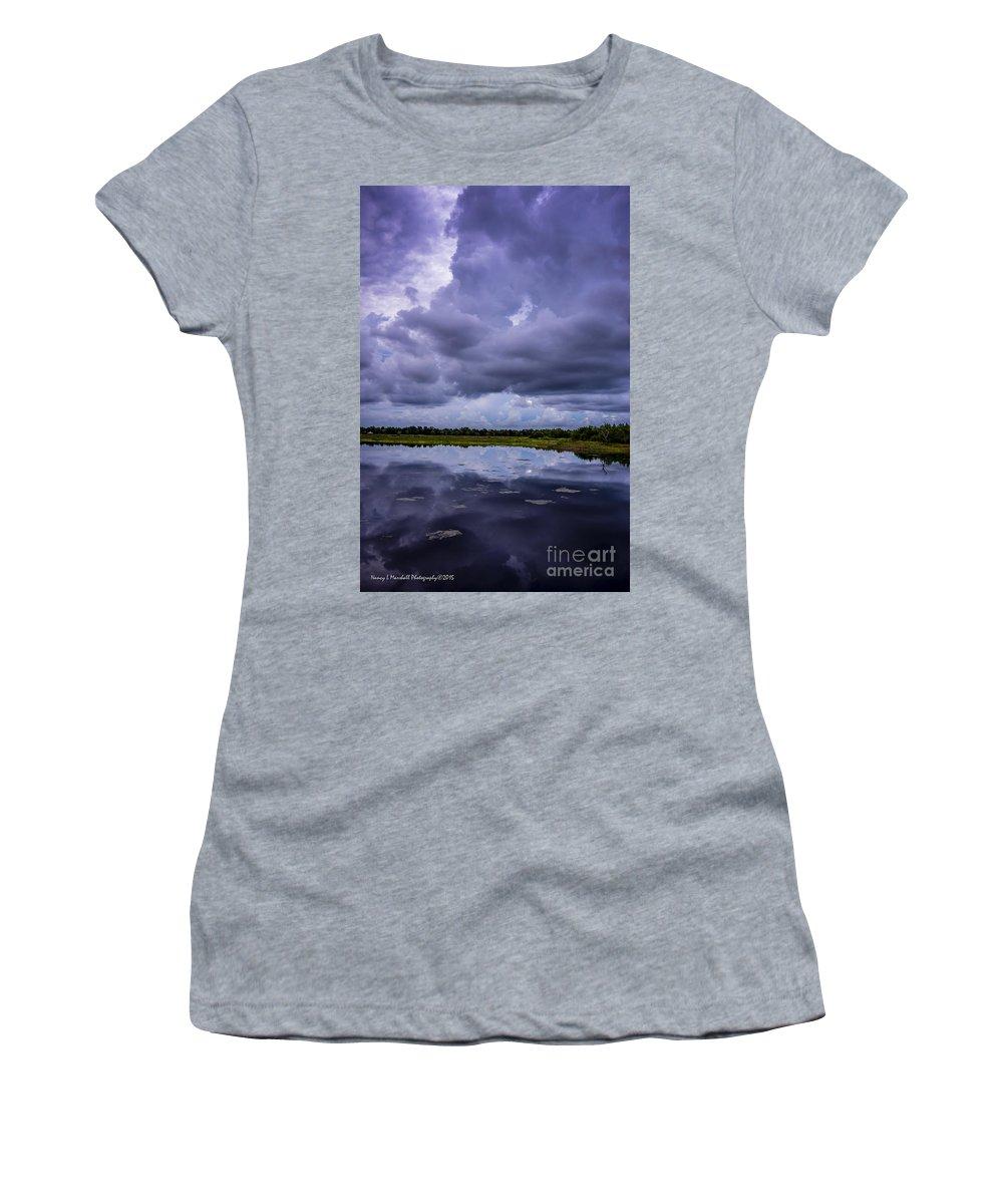 Boynton Beach Women's T-Shirt featuring the photograph Green Cay Storm 8 by Nancy L Marshall