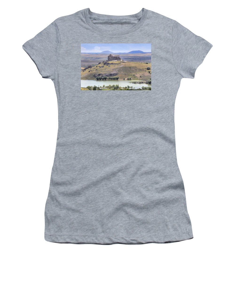 Analipsis Church Women's T-Shirt featuring the photograph Guezelyurt - Turkey by Joana Kruse