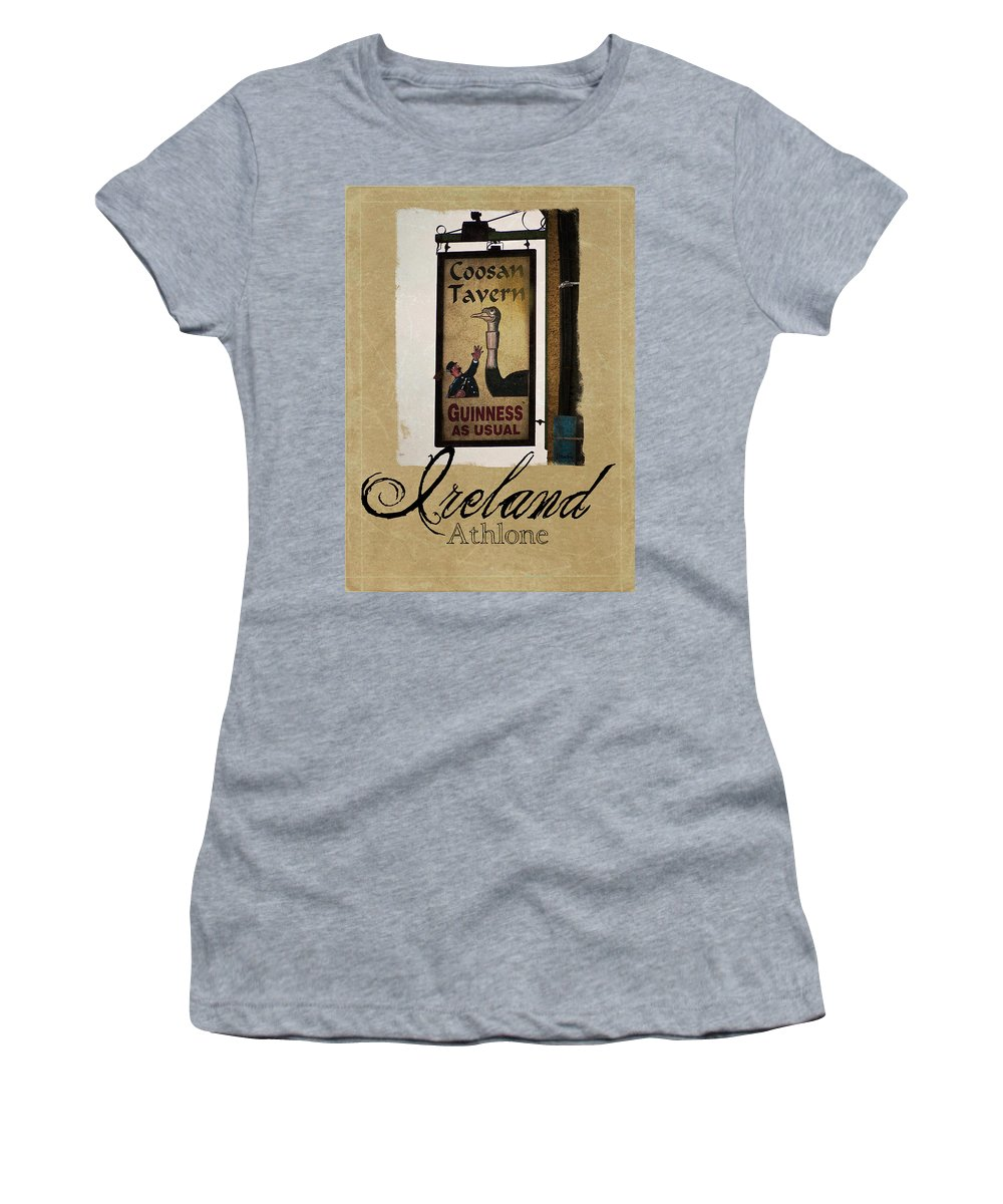 Ireland Women's T-Shirt (Athletic Fit) featuring the photograph Guinness As Usual Athlone Ireland by Teresa Mucha