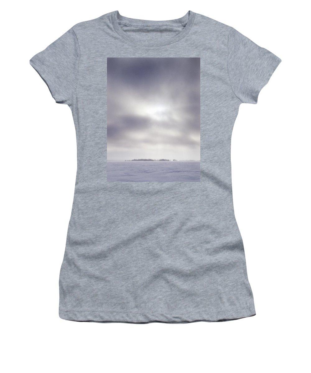 Lehtokukka Women's T-Shirt (Athletic Fit) featuring the photograph Gulf Of Bothnia Variations Nr 14 by Jouko Lehto