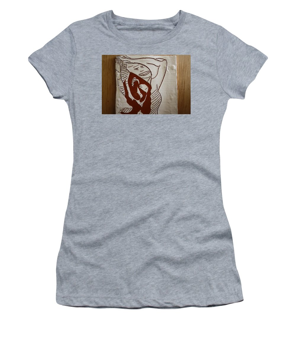Jesus Women's T-Shirt (Athletic Fit) featuring the ceramic art Hair Day - Tile by Gloria Ssali