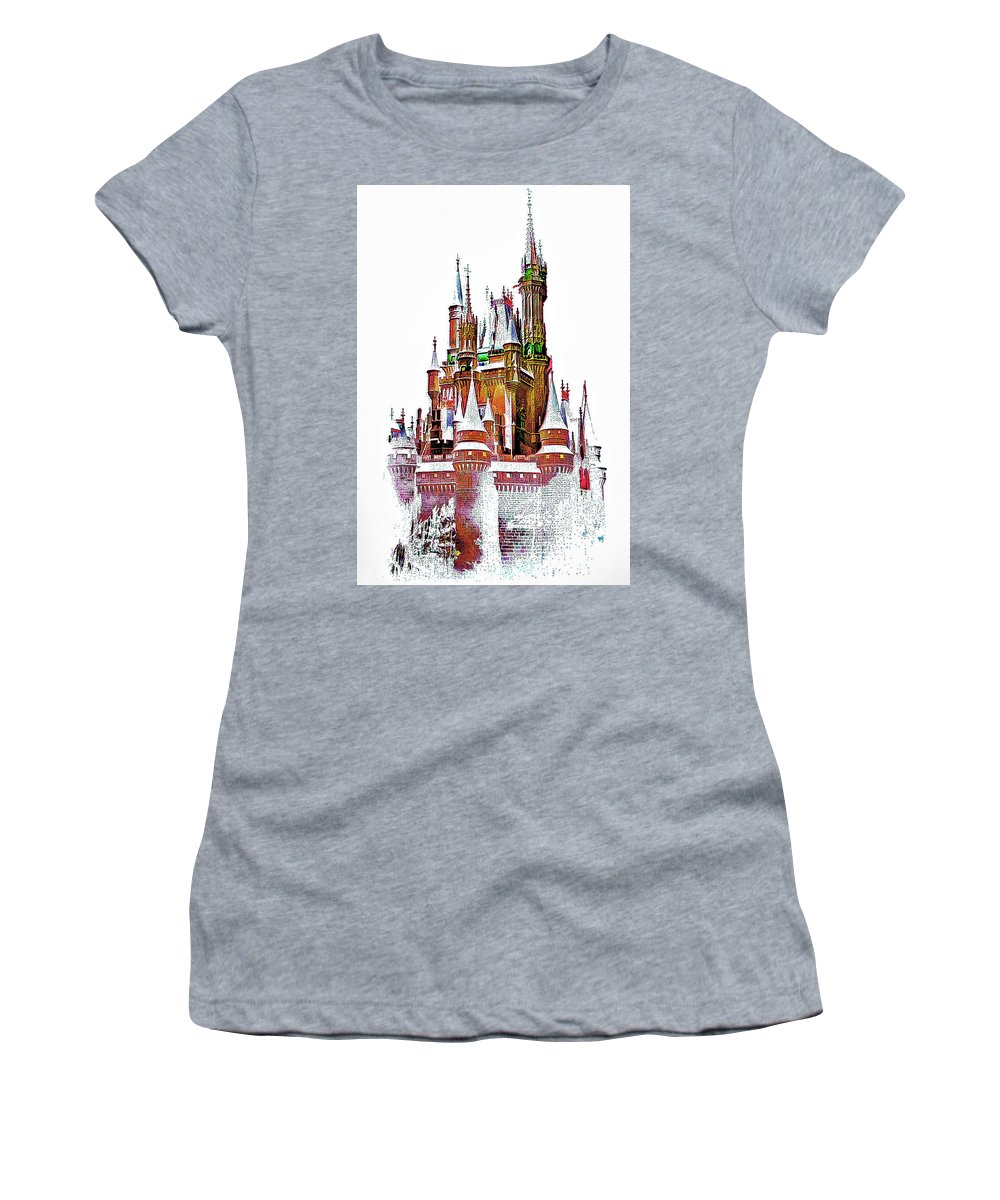 Castle Women's T-Shirt featuring the photograph Hall Of The Snow King by Steve Harrington