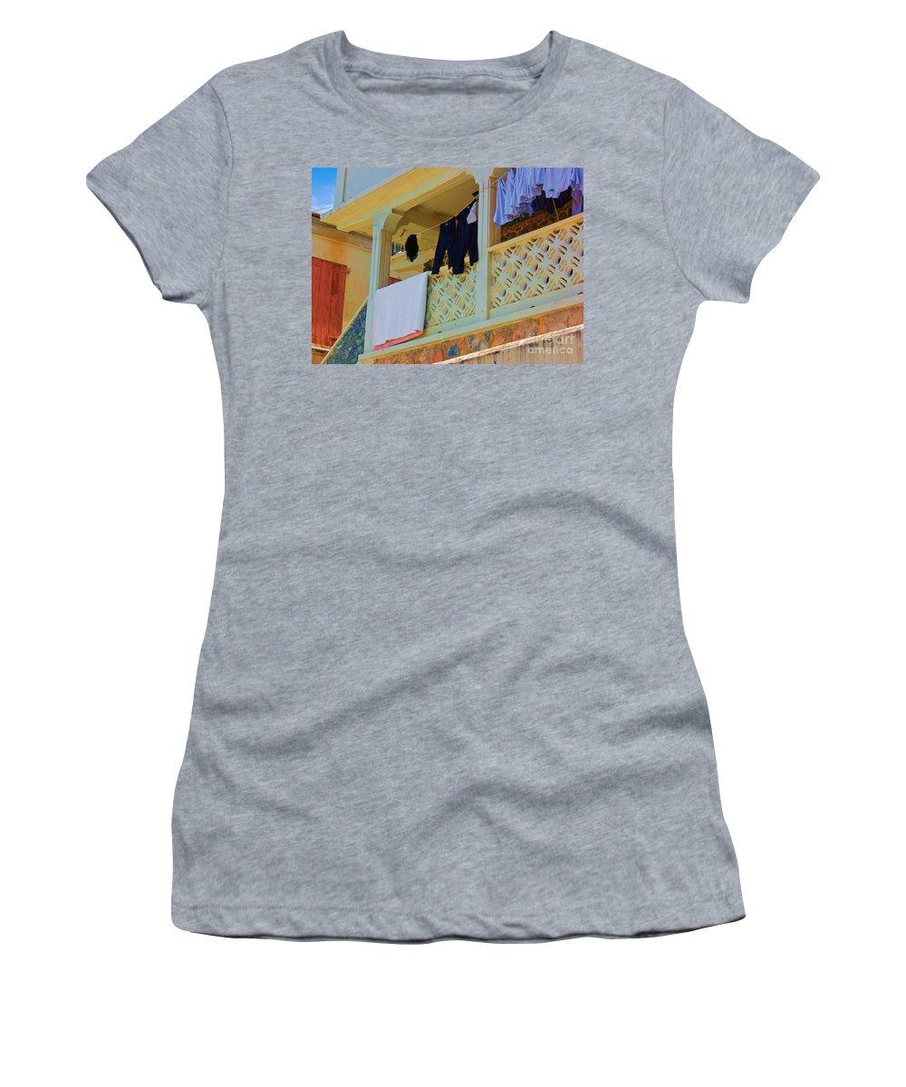 Laundry Women's T-Shirt featuring the photograph Hang Em High by Debbi Granruth