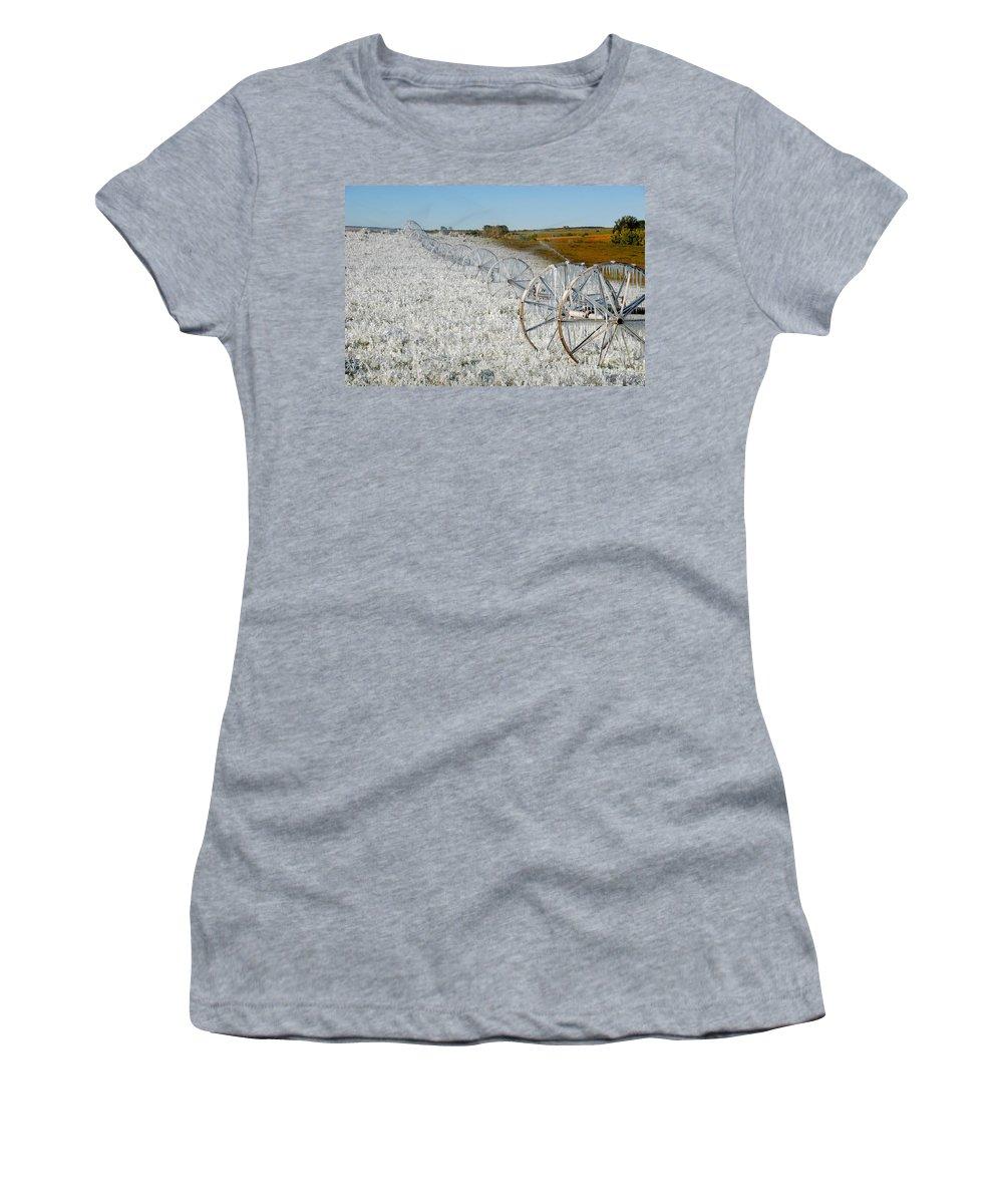Farm Women's T-Shirt featuring the photograph Hard Land Farming by David Lee Thompson