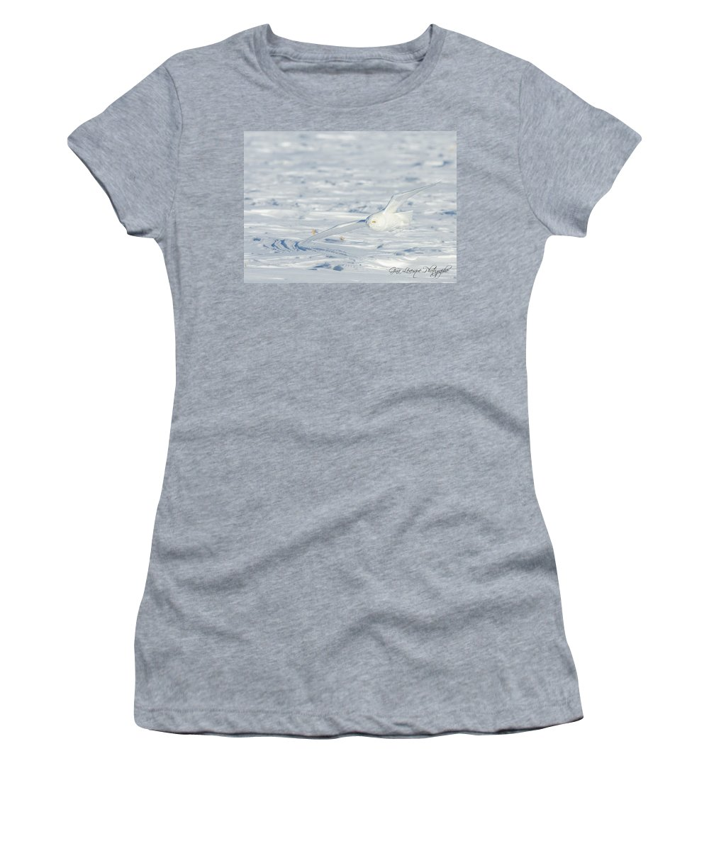 International Women's T-Shirt featuring the photograph Snowy Owl by Gina Levesque