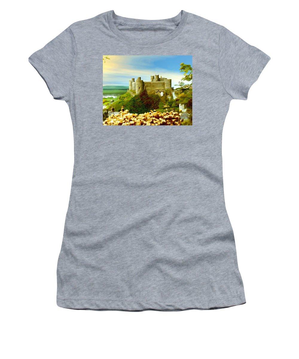 Castles Women's T-Shirt featuring the photograph Harlech Castle by Kurt Van Wagner