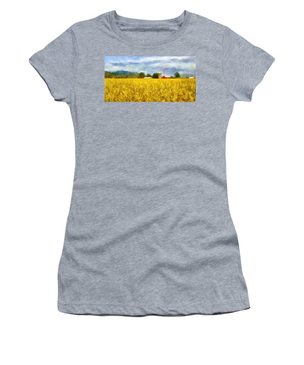 Harvest Women's T-Shirt (Athletic Fit) featuring the digital art Harvest by Francesa Miller