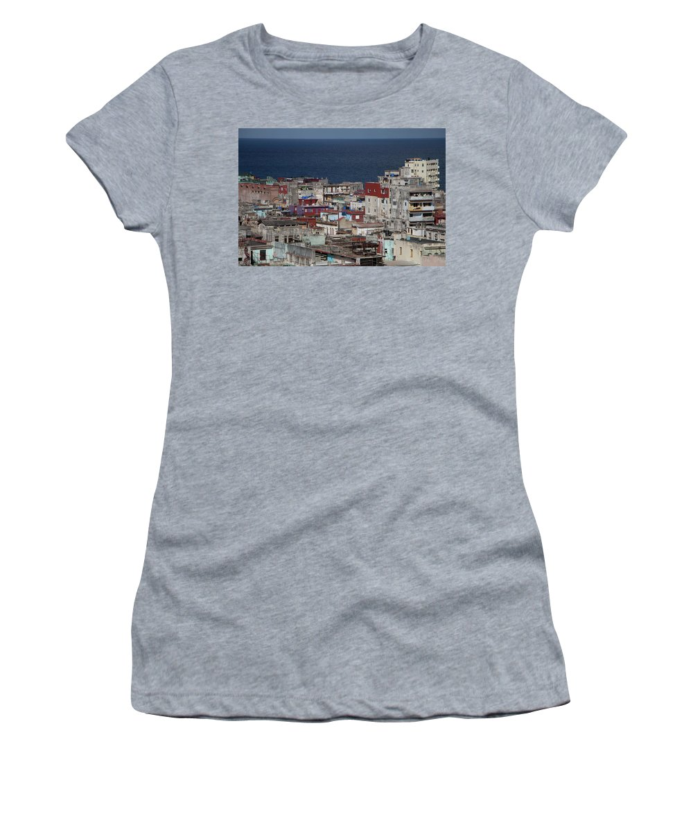 Street Women's T-Shirt (Athletic Fit) featuring the photograph Havana, Cuba by Brigitte Mueller