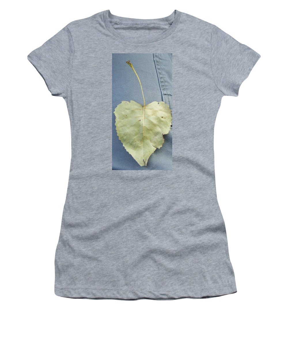 Women's T-Shirt (Athletic Fit) featuring the photograph Heart Leaf by Christy Hicks