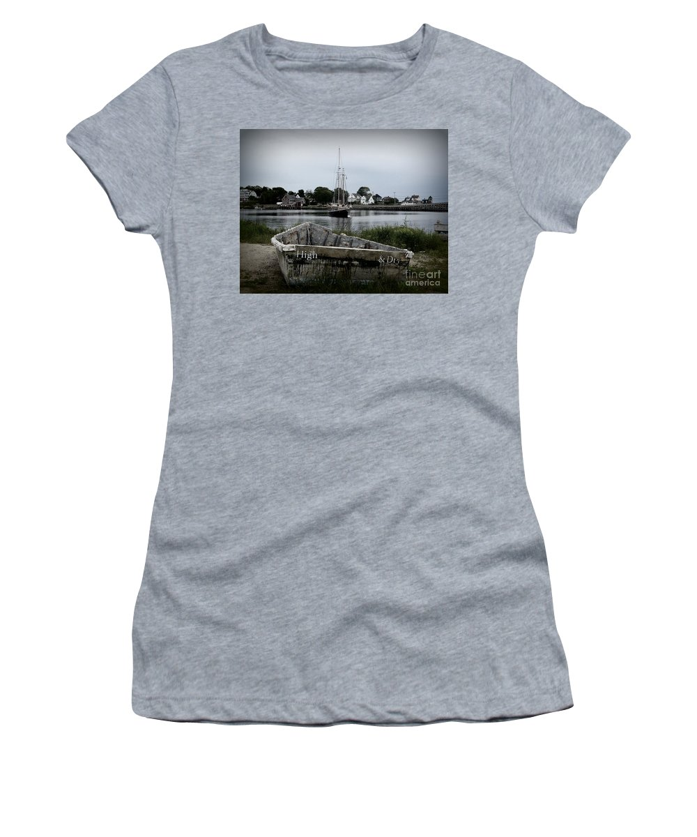 Boats Women's T-Shirt (Athletic Fit) featuring the photograph High And Dry by Julie Hodgkins