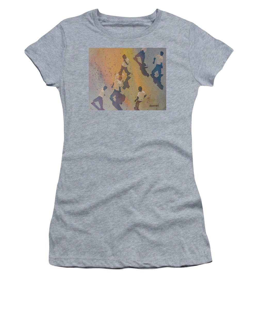 Men Women's T-Shirt (Athletic Fit) featuring the painting High Noon At The Gravel Spit II by Jenny Armitage