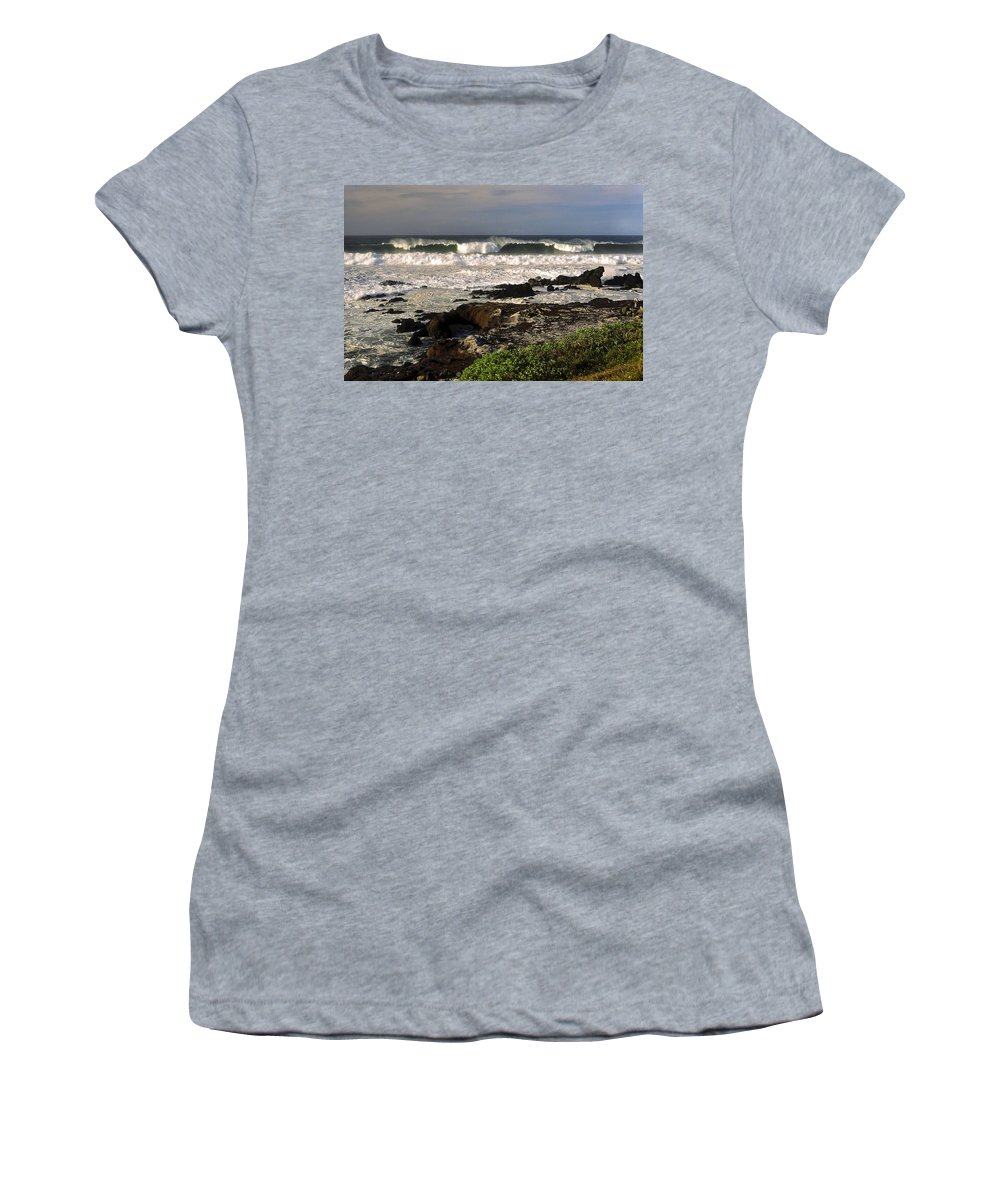 High Ocean Surf Women's T-Shirt featuring the photograph High Ocean Surf by Sally Weigand