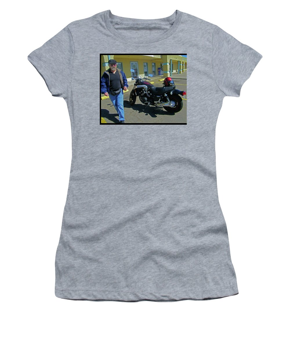 Abstract Women's T-Shirt (Athletic Fit) featuring the photograph His Pride And Joy by Lenore Senior