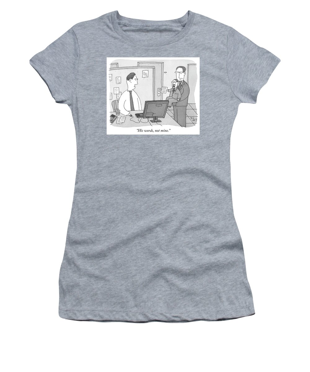 His Words Women's T-Shirt featuring the drawing His Words Not Mine by Peter C Vey
