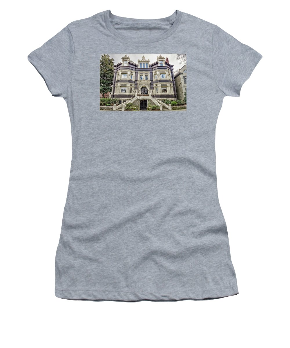 Architecture Women's T-Shirt (Athletic Fit) featuring the photograph Historic Old Louisville - William Wathen House 1895 by Tony Crehan