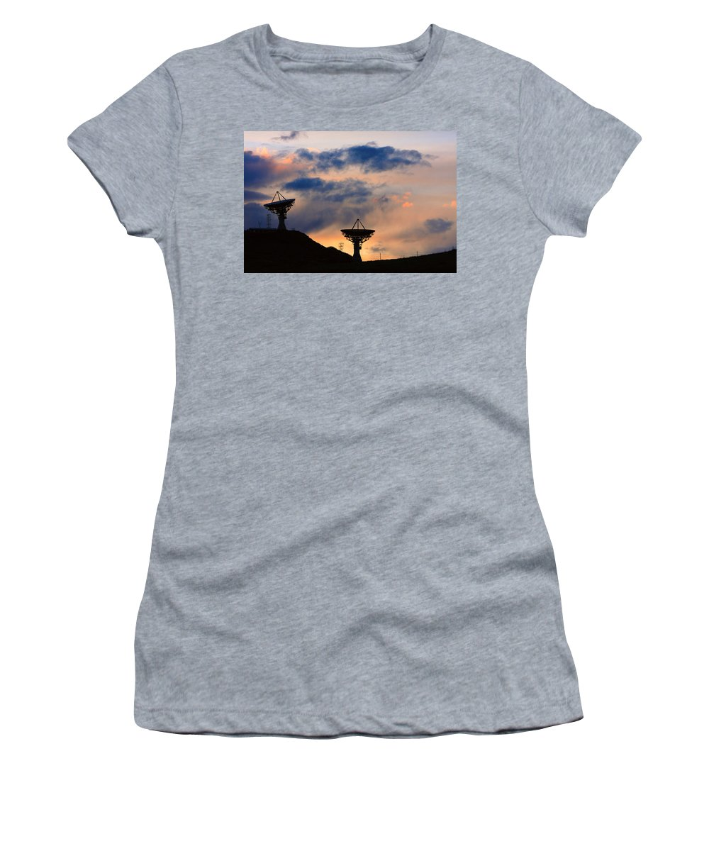 Sunset Women's T-Shirt (Athletic Fit) featuring the photograph Hitech Sunset by James BO Insogna