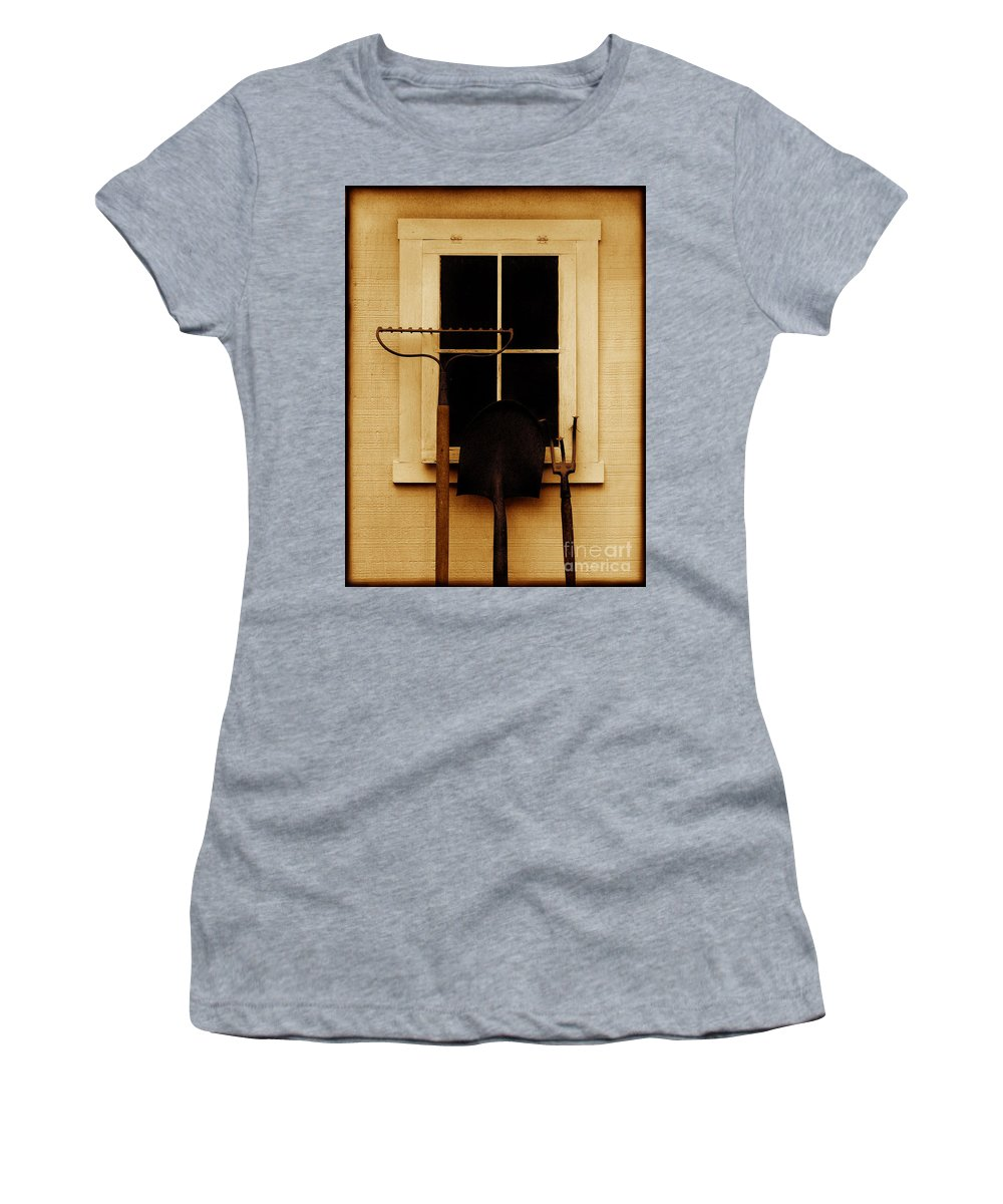 Tools Women's T-Shirt (Athletic Fit) featuring the photograph Home Of The Free by Dana DiPasquale