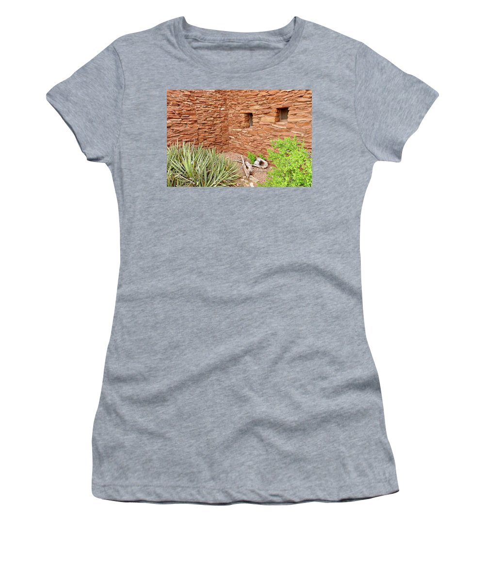 Hopi House Women's T-Shirt (Athletic Fit) featuring the photograph Hopi House Garden by Julie Niemela