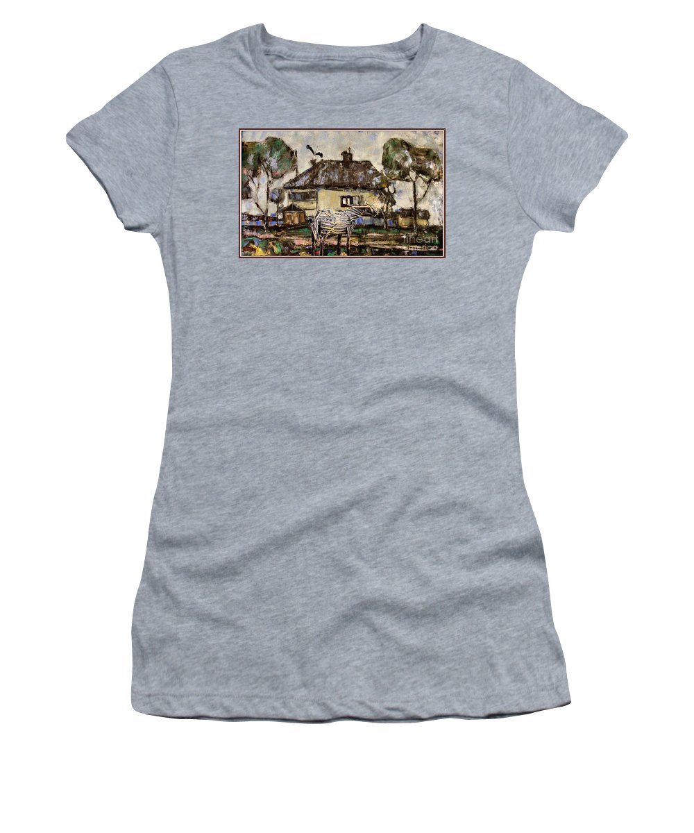 Modern Painting Women's T-Shirt featuring the mixed media Horse Statue 44 by Pemaro