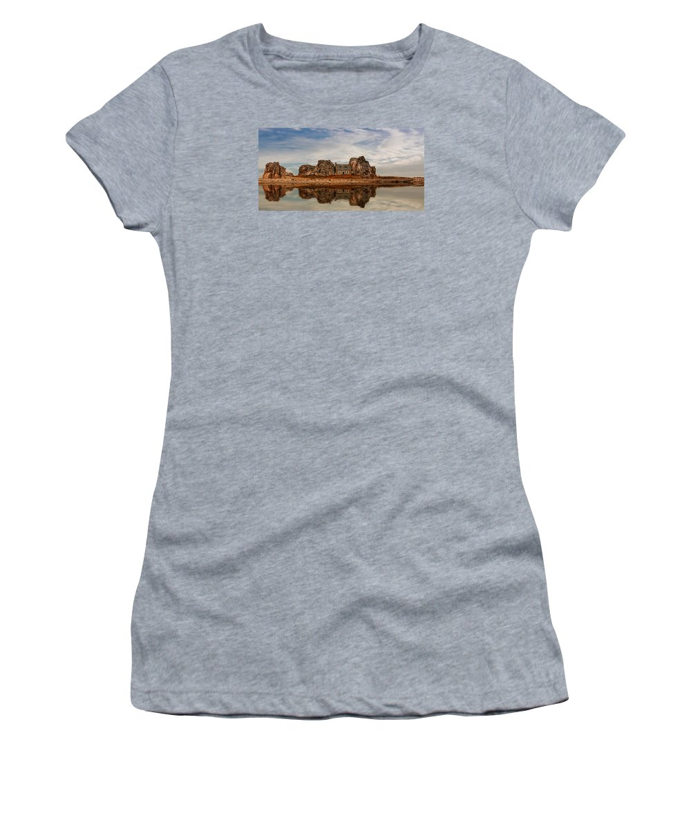 House Women's T-Shirt (Athletic Fit) featuring the photograph House Of Silence by Claudia Moeckel