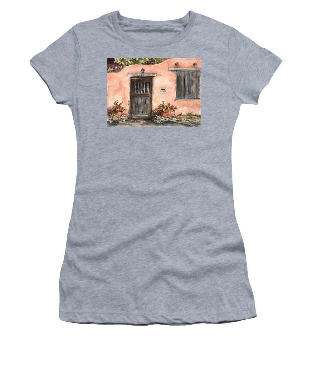 House Women's T-Shirt (Athletic Fit) featuring the painting House On Delgado Street by Sam Sidders