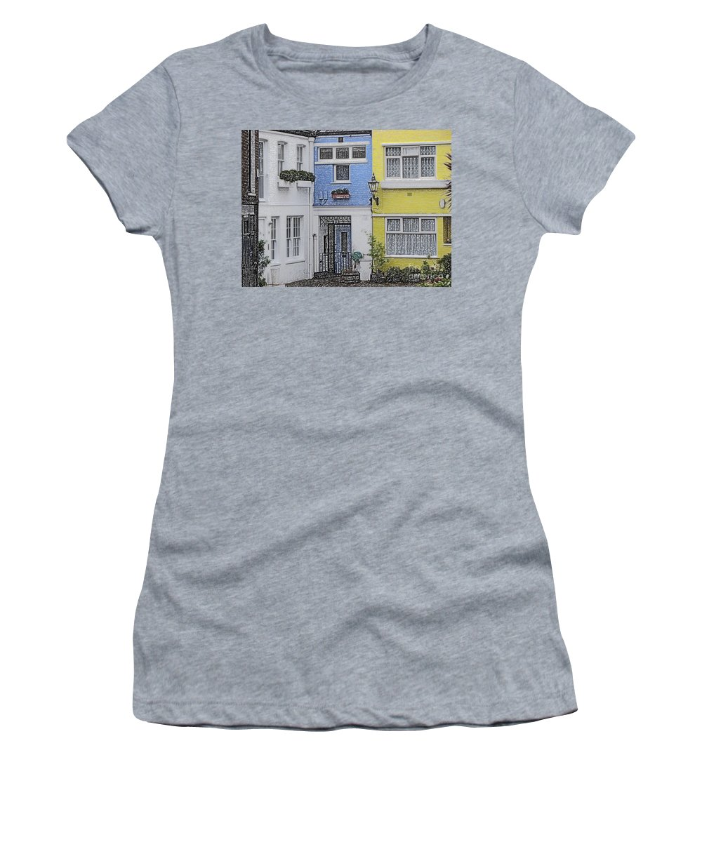 House Women's T-Shirt (Athletic Fit) featuring the photograph Houses by Amanda Barcon