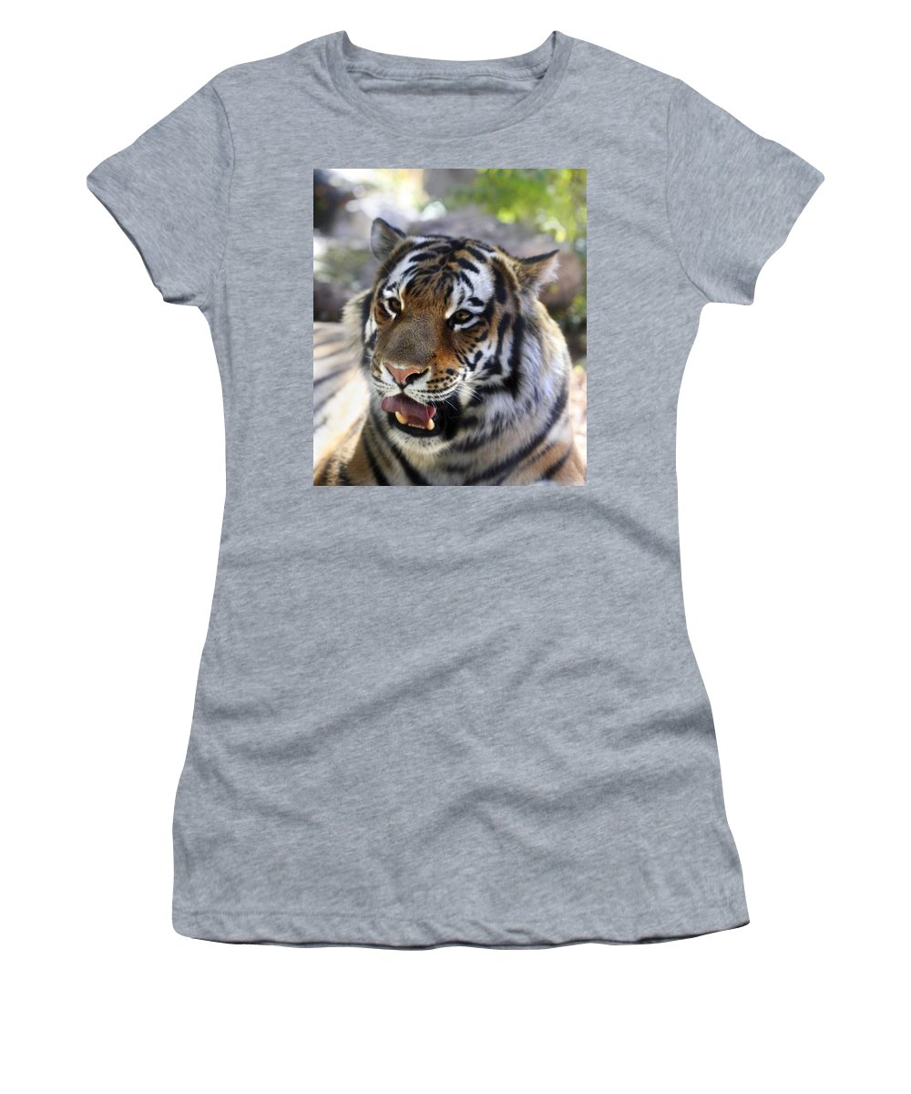Animal Women's T-Shirt (Athletic Fit) featuring the photograph Hungry Eyes by Marilyn Hunt