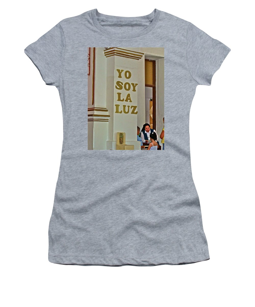 Church Women's T-Shirt (Athletic Fit) featuring the photograph I Am The Light by Diana Hatcher