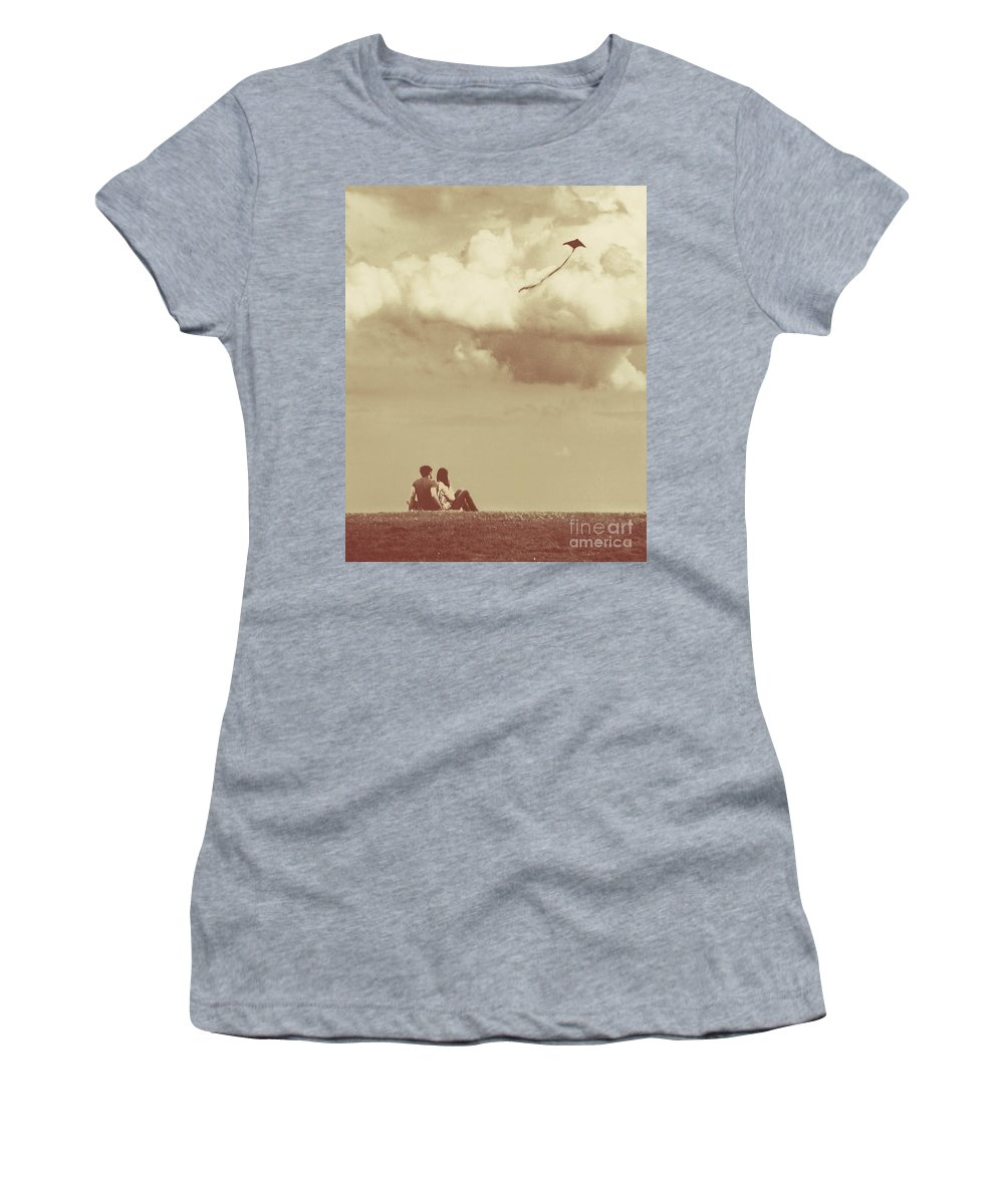 Dipasquale Women's T-Shirt featuring the photograph I Had A Dream I Could Fly From The Highest Swing by Dana DiPasquale