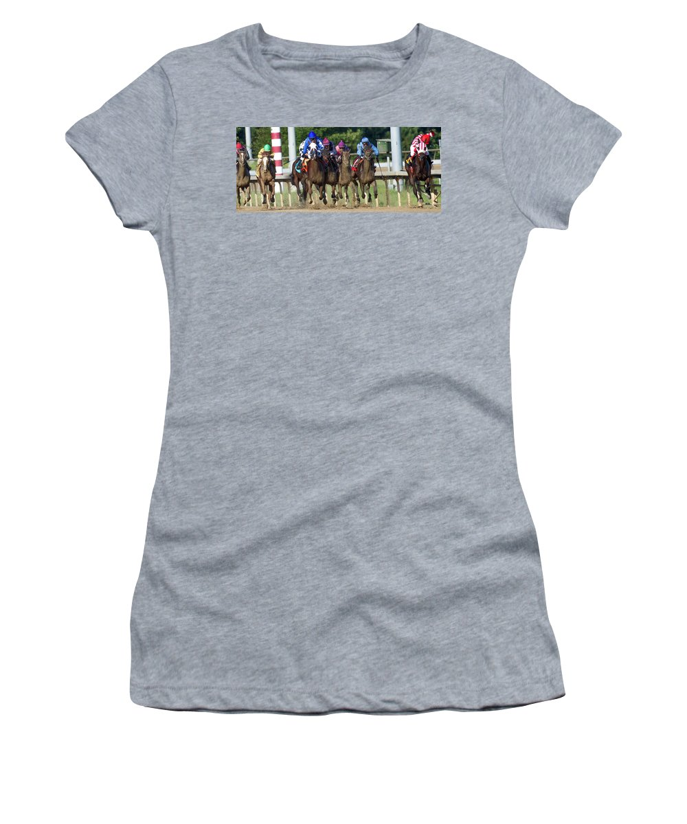 Horse Women's T-Shirt (Athletic Fit) featuring the photograph I Know You Can Do This by Betsy Knapp