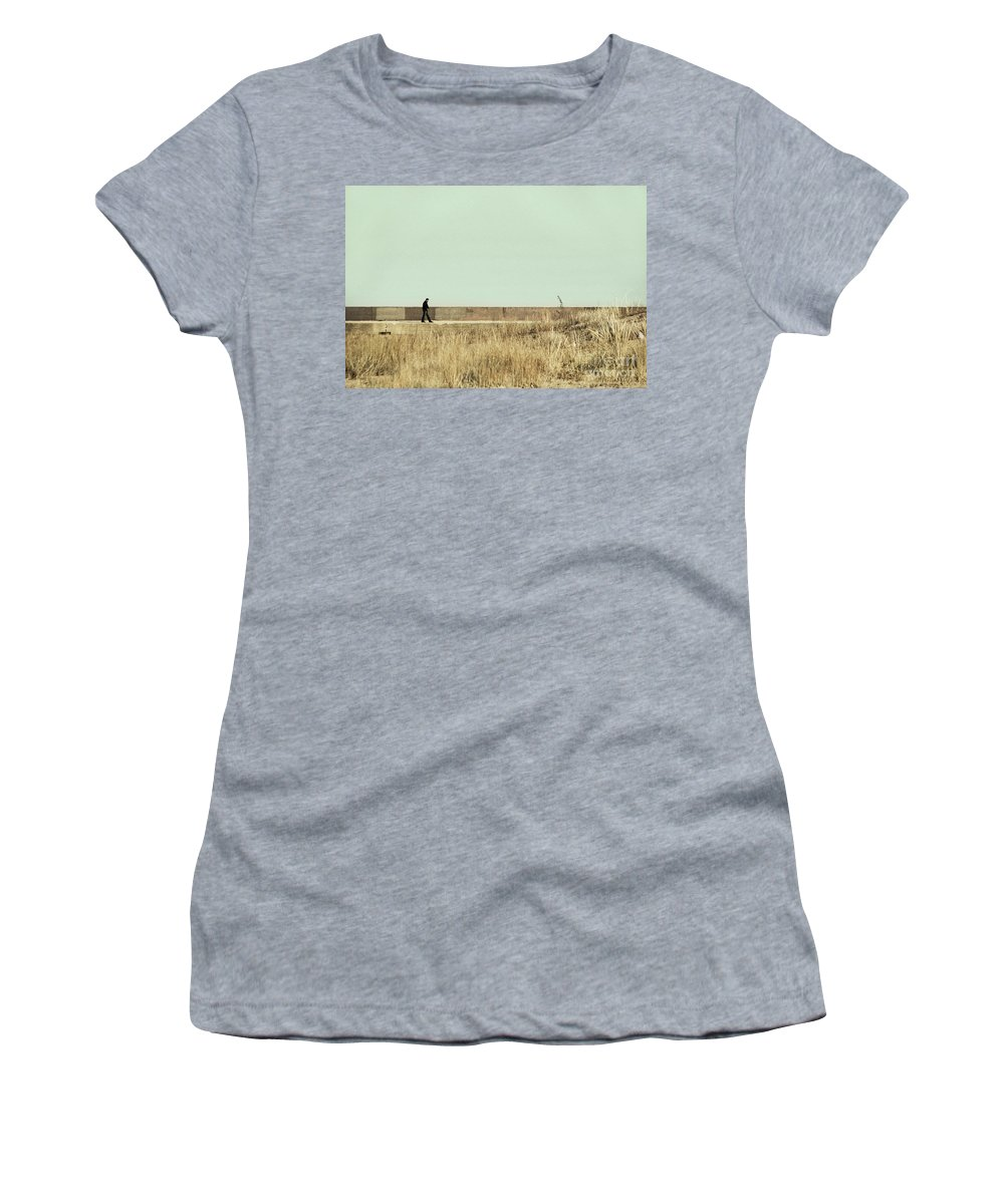 Dipasquale Women's T-Shirt (Athletic Fit) featuring the photograph I Remember What We Said by Dana DiPasquale