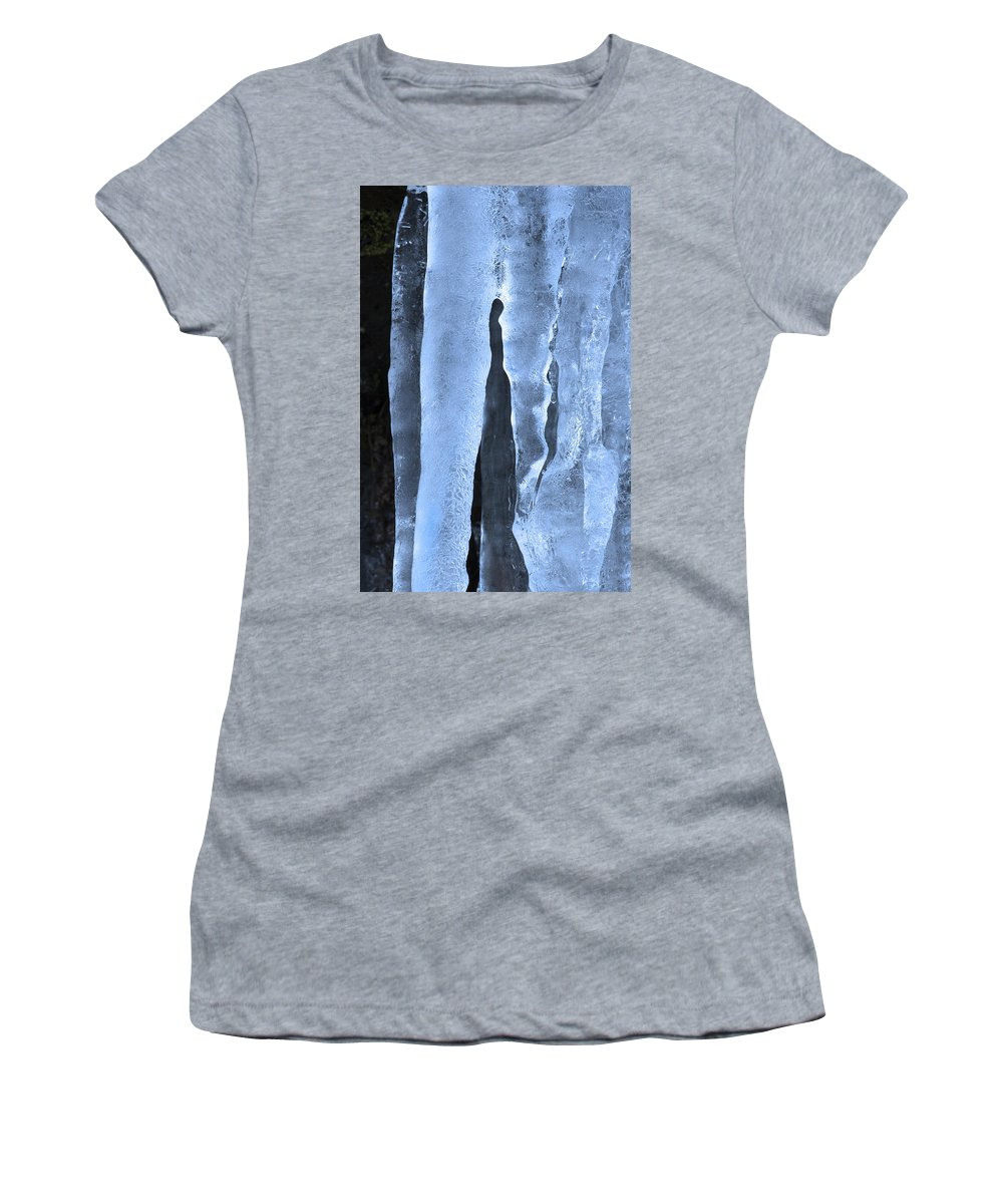 Icicle Women's T-Shirt (Athletic Fit) featuring the photograph Ice Sculpture by Mike Dawson
