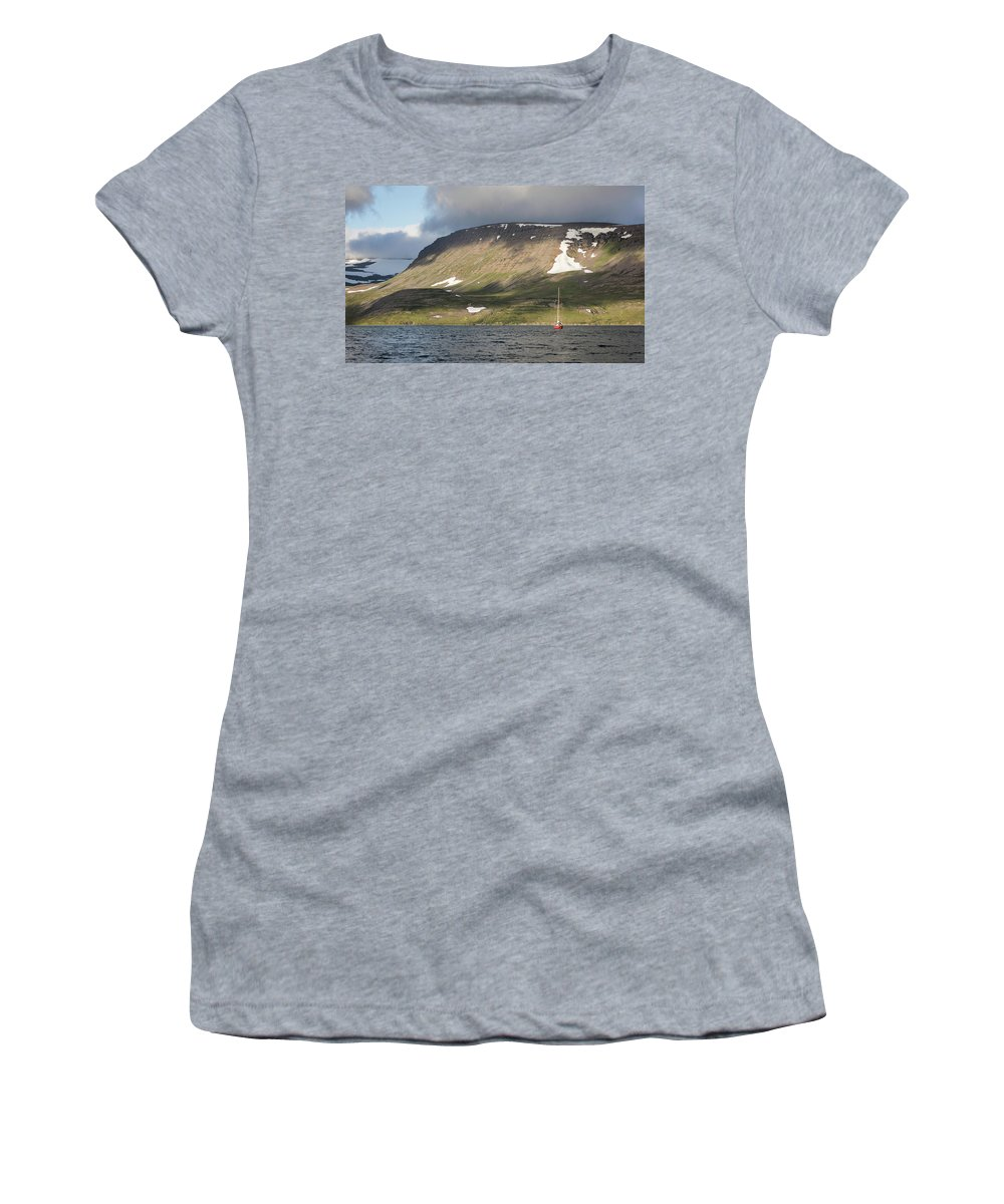 Iceland Women's T-Shirt (Athletic Fit) featuring the photograph Iceland 18 by Valeriy Shvetsov