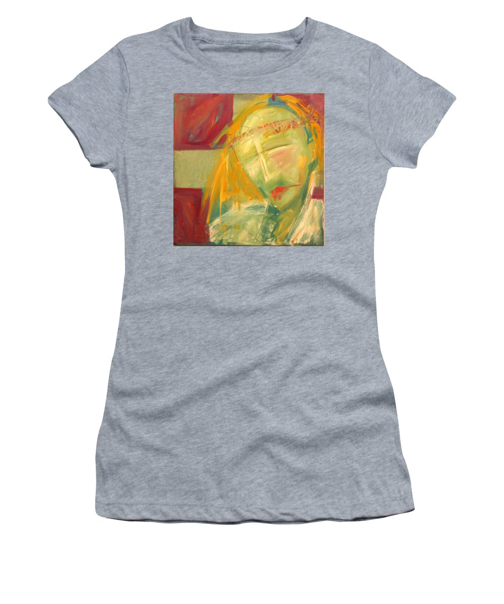 Christ Women's T-Shirt featuring the greeting card Icon Number Ten by Tim Nyberg