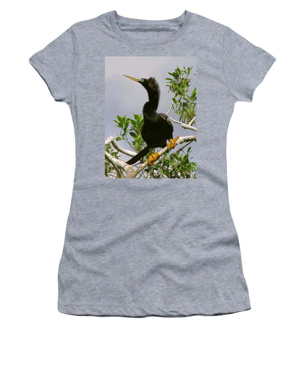 Bird Women's T-Shirt (Athletic Fit) featuring the photograph I'm So Sexy by Peg Urban