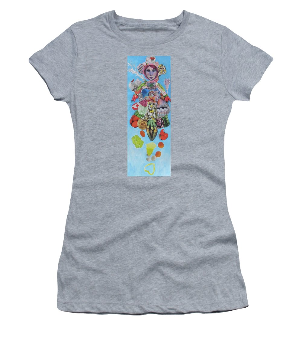 Woman Women's T-Shirt (Athletic Fit) featuring the mixed media Impermanence by Anna Maria Stone