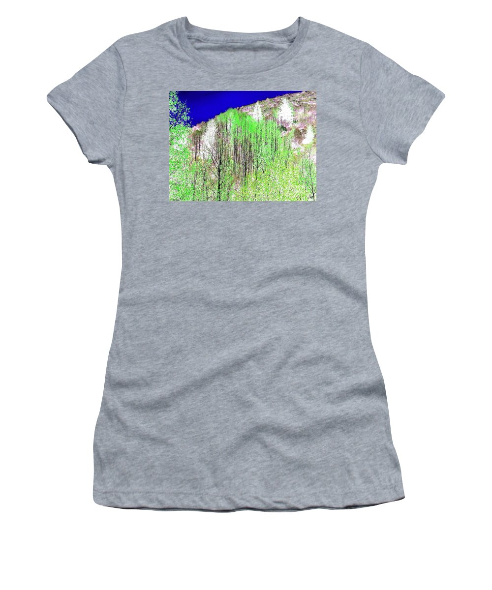 Impressions Women's T-Shirt (Athletic Fit) featuring the digital art Impressions 12 by Will Borden