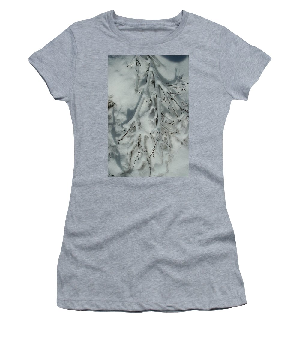 Snow Women's T-Shirt (Athletic Fit) featuring the photograph Impressions by Joi Electa