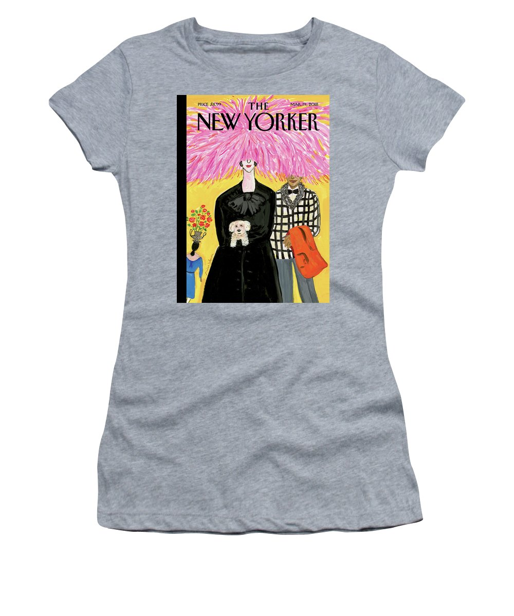 In Full Bloom Women's T-Shirt featuring the painting In Full Bloom by Maira Kalman