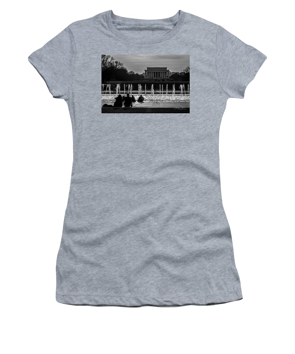 Couple Women's T-Shirt (Athletic Fit) featuring the photograph In Memoriam by Andrew Johnson