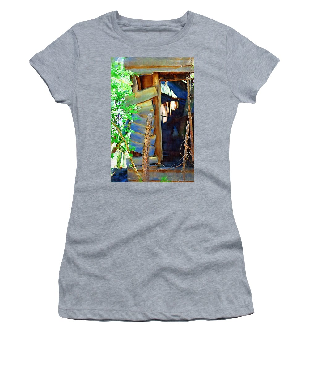 House Women's T-Shirt (Athletic Fit) featuring the photograph In Shambles by Donna Bentley